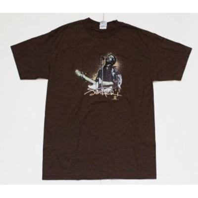 ファッション トップス Jimi Hendrix-Backlit Stage Image-Brown T-shirt