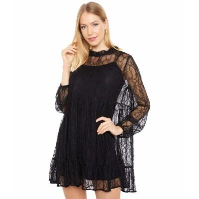 ワイフ ワンピース トップス レディース Monaco Babydoll Lace Dress Black