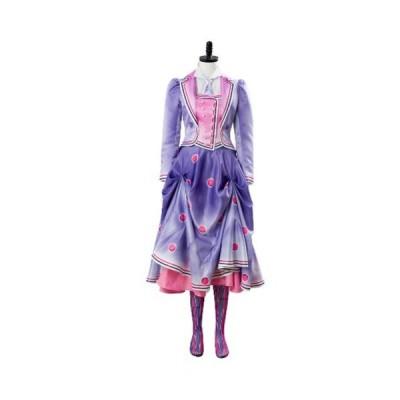高品質 高級コスプレ衣装 ディズニー メリー・ポピンズ 風 オーダーメイド コスチューム ドレス 2018 Mary Poppi