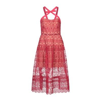 SELF-PORTRAIT 7分丈ワンピース・ドレス フューシャ 12 ポリエステル 100% 7分丈ワンピース・ドレス