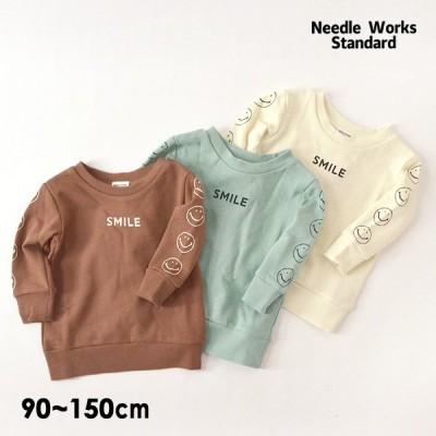 メール便可ニードルワークススタンダード 320025-m13m14-E6 スマイルスウェットシャツ キッズ ベビー  子供服 Needle Works Standard 4023178