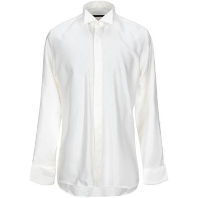 UNGARO シャツ アイボリー 43 コットン 50% / レーヨン 50% シャツ