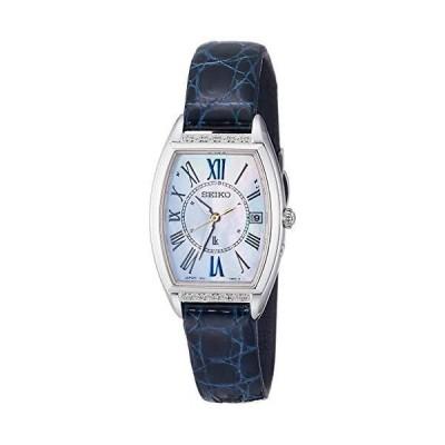 [セイコーウォッチ] 腕時計 ルキア SSVW181 レディース クロコダイル(ネイビー)