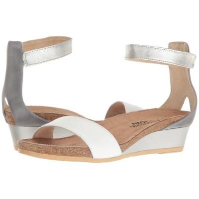 ナオト Naot レディース サンダル・ミュール シューズ・靴 Pixie White Leather/Vintage Slate Leather/Silver Luster Leather