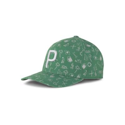 【プーマ】 ゴルフ デザート P 110 スナップバック キャップ メンズ AMAZONGREEN OSFA PUMA