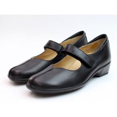Ganter ガンター 靴 ストラップパンプス ブラック 本革 3E セール 日本製 ドイツ コンフォートシューズ