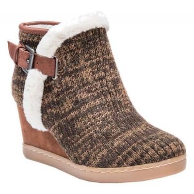 ムクルクス MUK LUKS レディース ブーツ シューズ・靴 AnnMarie Wedge Bootie Brown/Marl Acrylic