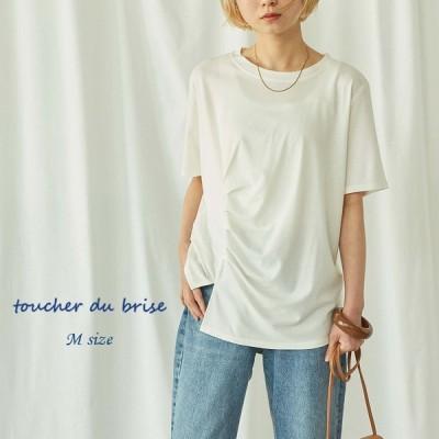 セール Mサイズ タックデザインTシャツ 婦人服 ファッション20代 30代 40代 おしゃれ 韓国風 母の日 プレゼント 母の日返品交換不可