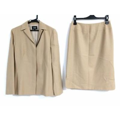 トランスワーク TRANS WORK スカートスーツ サイズ9 M レディース ライトブラウン【中古】20200510