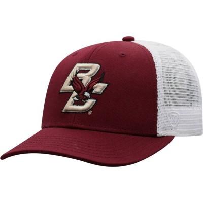 トップオブザワールド Top of the World メンズ キャップ 帽子 Boston College Eagles Maroon/White BB Two-Tone Adjustable Hat