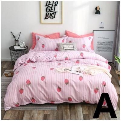 ベッドカバー 布団カバー セット シングル セミダブル 寝具セット 枕カバー おしゃれ 北欧風 洋式和式兼用 洗える 防ダニ 柔らかい 可愛い ダブル クイーン
