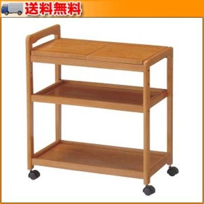 木製キッチンワゴン KW-B590 BR ▼木製のワゴン