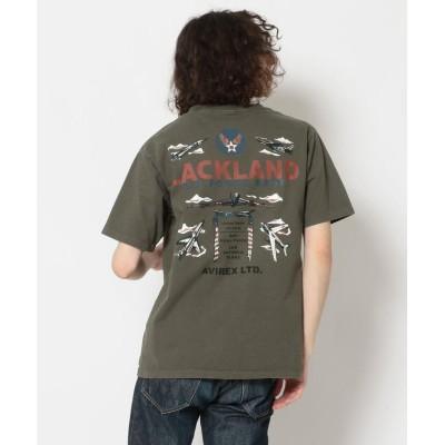 【アヴィレックス】 フェードウォッシュTシャツ ラックランド/FADE WASH T-SHIRT LACKLAND メンズ OLIVE L AVIREX