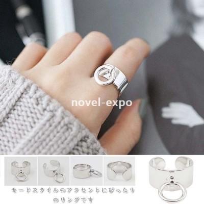 SILVER925製リング付きワイドリングアクセサリーリング指輪シルバーリングピンキーリングファランジリングミディリング結婚