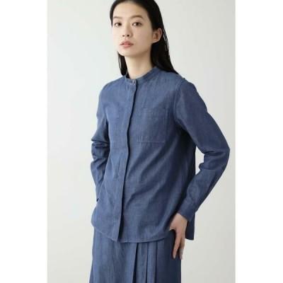 HUMAN WOMAN / ヒューマンウーマン ◆≪Japan Couture≫反応染めデニムブラウス