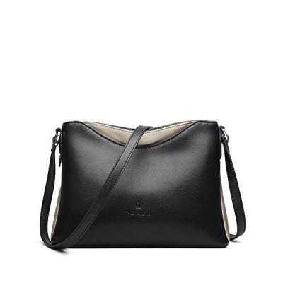 Leather Crossbody Bags for Women, Genuine Leather Minimalist Design Medium Ladies Designer Messenger Bags with Adjustable Shoulder Strap Wom
