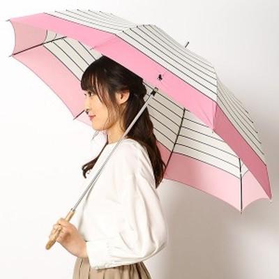 ポロ ラルフローレン(傘)POLO RALPH LAUREN(umbrella)/雨傘(長傘)【グラス骨】ボーダー柄(レディース)