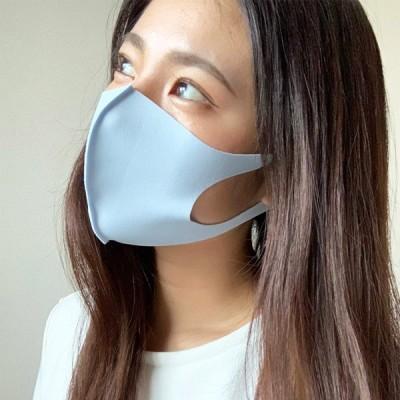 夏対応マスク タフクール 2枚 水色 洗えるマスク 日本の縫製工場がお届けします ユニセックス フリーサイズ