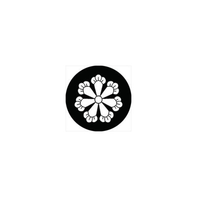 家紋シール 七つ丁子紋 直径10cm 丸型 白紋 2枚セット KS10M-1804W