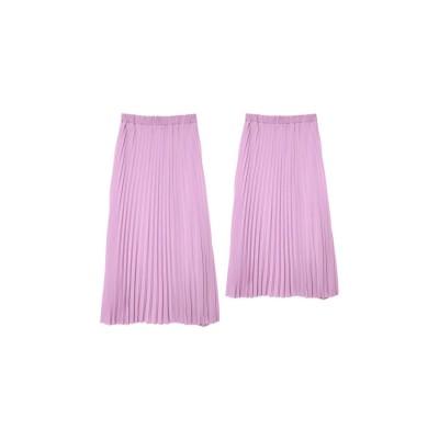 Re:EDIT 丈が選べるセミオーダーカラープリーツスカート【ロング丈】 ラベンダー