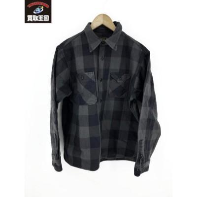 CUSHMAN ヘビーネルシャツ ブロックチェック (XL)