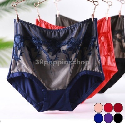 レディース ショーツ パンツ 下着 インナー 大きめ下着 大きいサイズ 股上深め 伸びる ストレッチ 通気性 刺繍