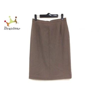 レリアン Leilian スカート サイズ9 M レディース ダークブラウン       スペシャル特価 20200925
