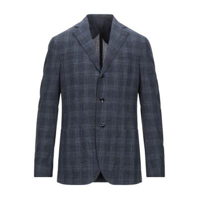 BARBA Napoli テーラードジャケット ダークブルー 50 ウール 49% / シルク 30% / リネン 21% テーラードジャケット