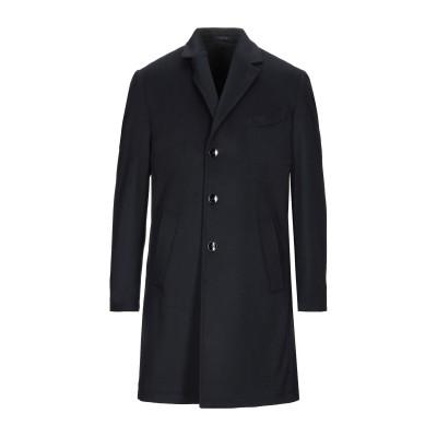 MAXI HO コート ダークブルー 46 バージンウール 90% / カシミヤ 10% コート