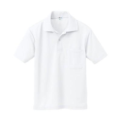 アジト(AZITO) 吸汗速乾半袖ポロ ホワイト 10579 ワーク 作業 作業着 メンズ レディース