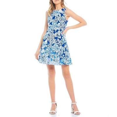 ビーダーリン レディース ワンピース トップス Bow-Back Floral Print Skater Dress