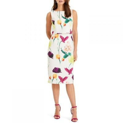 フェーズ エイト Phase Eight レディース ワンピース ワンピース・ドレス Elin Double Layer Scuba Dress Ivory