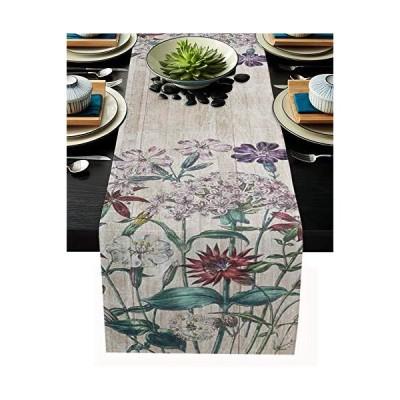 FAMILYDECOR Table Runner Seasonal Dresser Scarf for Kitchen Dinner Table, Wedding Parties Table Runner Mats Linen Burlap Home Tabletop Cover