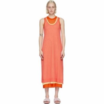 J.W.アンダーソン JW Anderson レディース ワンピース タンクドレス ワンピース・ドレス Orange Layered Tank Dress Orange
