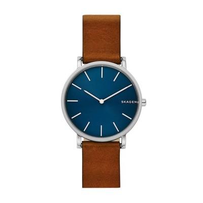 【3年保証】 スカーゲン SKAGEN 腕時計 SKW6446 メンズ ブラウン レザー/シルバー/ブルー ポイント消化