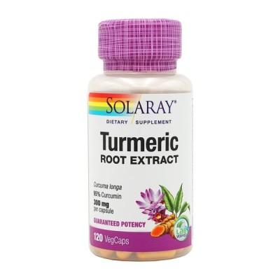 ソラレー  ウコンエキス 300mg 120ベジカプセル 【SOLARAY】Turmeric Root Extract 300mg