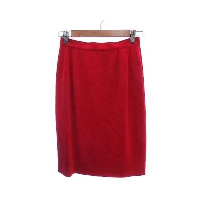 【中古】未使用品 ミスクロエ miss chloe タイトスカート ひざ丈 40 赤 レッド /AU レディース 【ベクトル 古着】