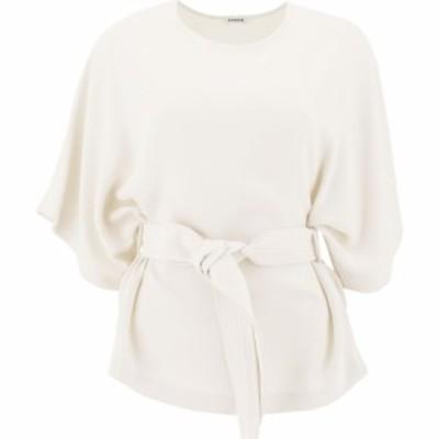 パロッシュ P.A.R.O.S.H. レディース Tシャツ トップス T-Shirt With Belt White