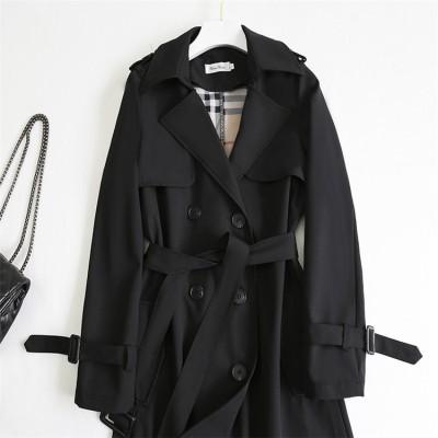 在庫激安処理 韓国ファッション 2020秋 冬 新スタイル スター同じスタイル ブリティッシュスタイル スリムフィット ダブルボタン 中・長セクション コート トレンチコート