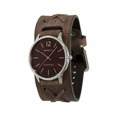 Nemesis Mens Sapphire Quartz Stainless Steel and Leather Casual Watch, Color:Brown (Model: DBFXB252B)
