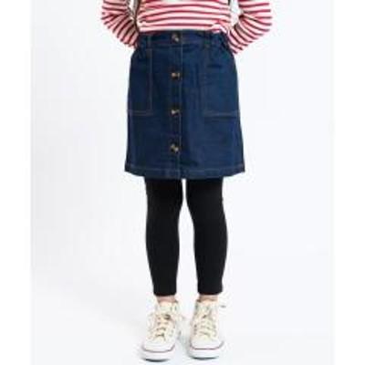 シップスSHIPS KIDS:Aライン デニム スカート2(100~130cm)【お取り寄せ商品】