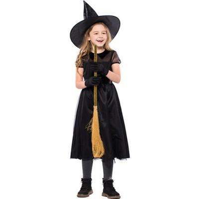 ハロウィン 魔女 女の子 ワンピース 仮装 お化け デビル かわいい キッズ用 人気 ハロウィーン コスプレ キッズ 子供 コスプレー