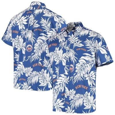 """メンズ シャツ """"New York Mets"""" Reyn Spooner Aloha Button-Down Shirt - Royal"""