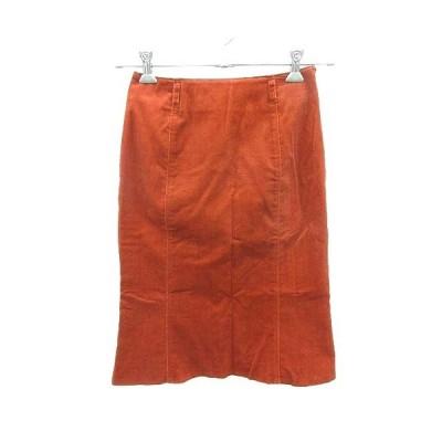 未使用品 リップスター LIPSTAR スカート タイト ひざ丈 フェイクスエード 2 オレンジ /KB レディース【中古】【ベクトル 古着】