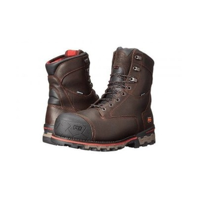"Timberland PRO ティンバーランド メンズ 男性用 シューズ 靴 ブーツ ワークブーツ 8"" Boondock 1000g Composite Safety Toe Waterproof Insulated - Brown T.."