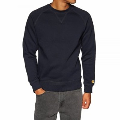 カーハート Carhartt WIP メンズ ニット・セーター トップス carhartt chase sweater Dark Navy Gold
