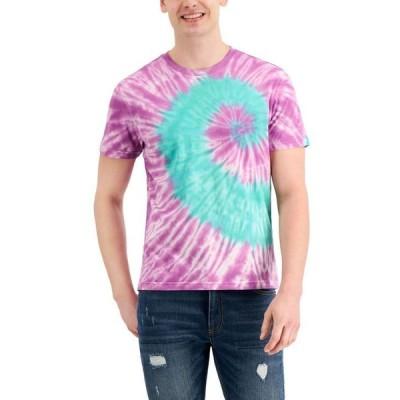 サンストーン メンズ Tシャツ トップス Men's Tie-Dyed Spiral T-Shirt