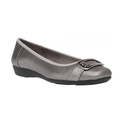 Anne Klein アン クライン レディース 女性用 シューズ 靴 フラット Ulivera - Pewter Lizard Synthetic
