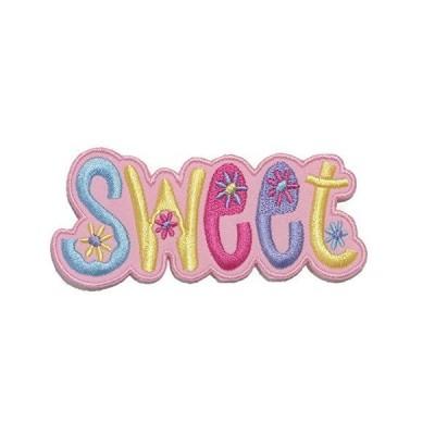 HHO ピンクスウィートフラワー DIY 刺繍パッチ 刺繍入り DIYパッチ かわいいアップリケ 縫い付け アイロン 子供用 クラフトパッチ バッグ
