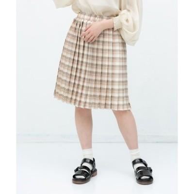スカート パンツ付きプリーツスカート